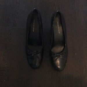 Gently worn black heels